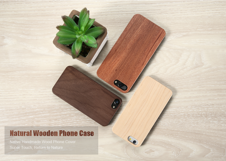 KISSCASE APPLE iPhone 5 6 6S 6 Plus 7 Plus Wooden Case