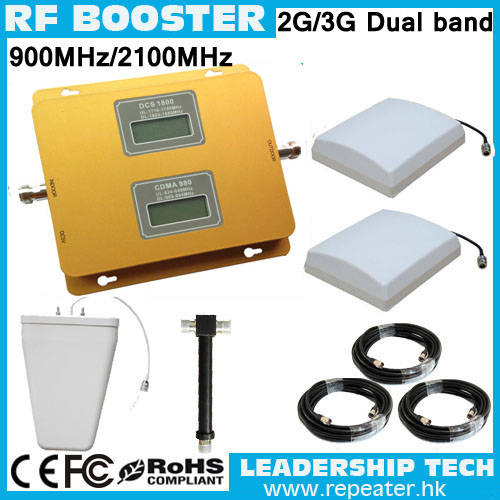 RF GSM/UMTS WCDMA TD-SCDMA HSDPA 900mhz/2100mhz 3G LCD Display Cell/mobile Phone Repeater Booster Detector Repetidor Amplifier