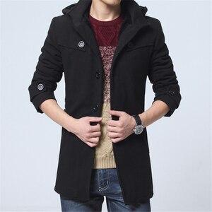 Image 3 - Gabardina gruesa de lana para hombre, abrigo largo a la moda, gran oferta, para invierno, talla 4XL, 2020