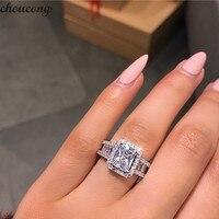 Choucong суд обещание кольцо 925 пробы серебро 3ct 5A Циркон cz обручение обручальное кольца для женщин Вечеринка ювелирные изделия