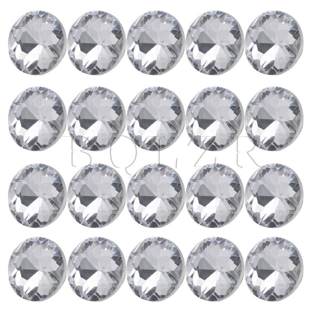 Bqlzr 20mm Dia Clear Crystal Diamante Ronde Knoppen Tuften Sofa Bekleding Hoofdeinde Pack Van 20 Geschikt Voor Mannen, Vrouwen En Kinderen