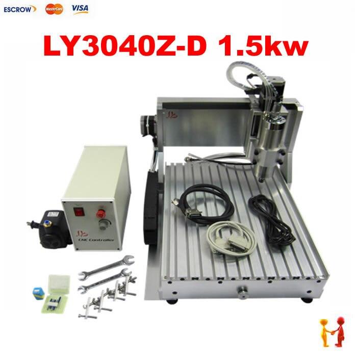 Fraiseuse CNC pour CNC en métal 3040 Z-VFD 3 axes 1.5kw broche équipement de travail du bois CNC routeur bois à vendre