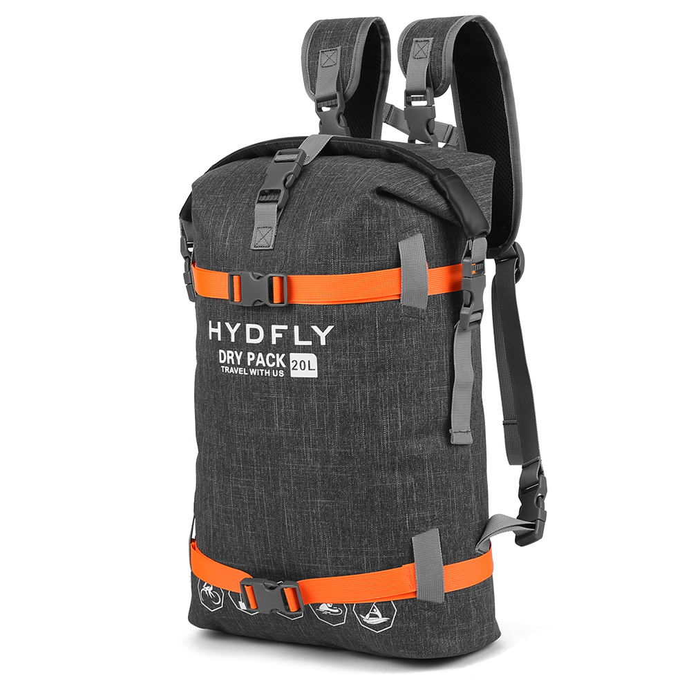 Outdoor Waterproof Backpack Dry Bag River Trekking Floating Roll-top Backpack Drifting Swimming Water Sports Dry Bag 10L/15L/20L