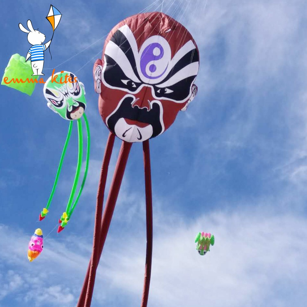 Inflatable Peking Opera Face Line Laundry Easy Flying Nylon Material Large Show Kite