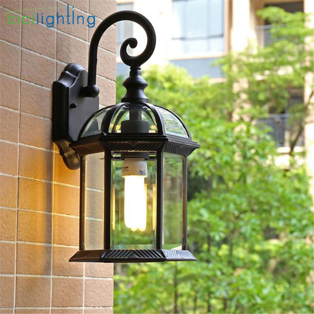 Rustic waterproof outdoor wall lamp antique outdoor garden lamps European retro balcony aisle lighting bronze black porch lamp european retro outdoor wall lamp villa balcony garden lamp retro wall lamp outdoor retro lamps