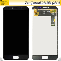Black White Color For General mobile GM 6 GM6 LCD Replacement Digitizer Touch Screen + LCD Display Tested Working Assembly