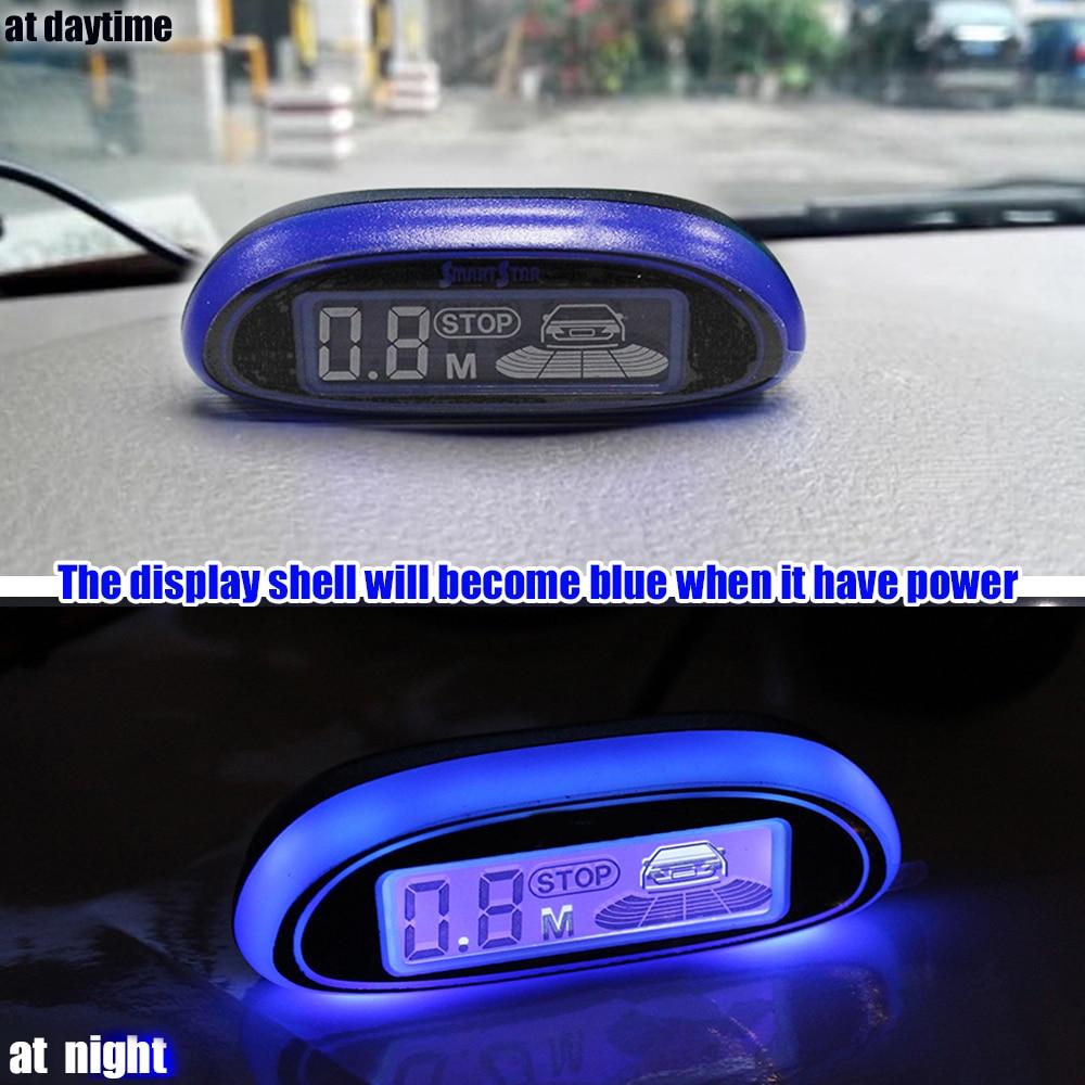 Image 3 - Car Parking Sensor Blue Screen Parking Assistance  4 Sensors Led Display Reverse Backup Radar Monitor Detector System Car Sensor-in Parking Sensors from Automobiles & Motorcycles