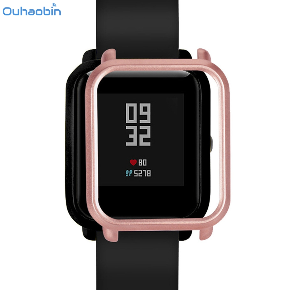 Ouhaobin Smart Watch Protect Case Slim Colorful Frame Protecter PC Cover Shell For Xiaomi Huami Amazfit Bip Youth Watch Dec11
