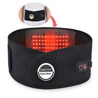 Electric Heat Therapy Back Support Brace Waist Massage Belt Heating Back Arthritis Pain Reliever Lumbar Soreness Massager