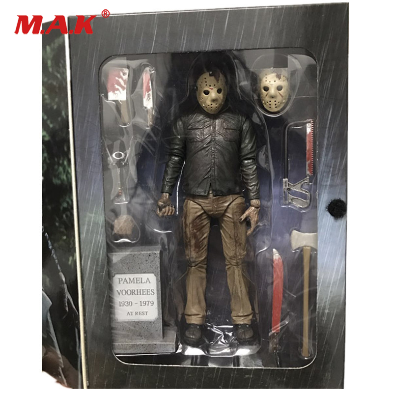 18cm Friday The 13th The Final Chapter Freddy Vs Jason PVC Action Figure Model Collections With Box neca friday the 13th the final chapter jason voorhees pvc action figure collectible model toy 7inch 18cm