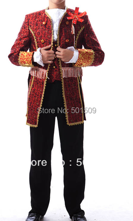 цены Free ship Medieval Renaissance mens costume period Vampire Costumes performance /Prince William /civil war/Colonial Belle stage