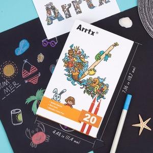 Image 5 - Arrtx AMP 1500 メタリックカラーペンプロファインポイント & ソフトブラシ 20 プランナーペン Diy フォトアルバムのための適切な /岩絵