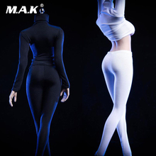1/6 sexy girl figure clothing Black/White Tights High Collar Action Figure Clothes For 12'' TBLeague large bust Seamless Body s02a s06b s09c s18a s19b s20a s21b s22a s23b 1 6 tbleague ph seamless mid large breast bust female body 1 6 head action figure
