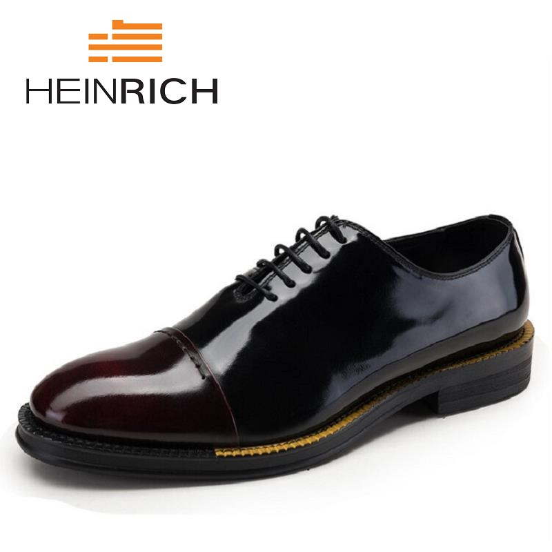 vermelho Heinrich De branco Genuínos Sapatos Couro Sapato Vinho Homens Bespoke Ayakkabi Kundura Patente Black Vestido Artesanais Oxford Erkek HBFanCHxq