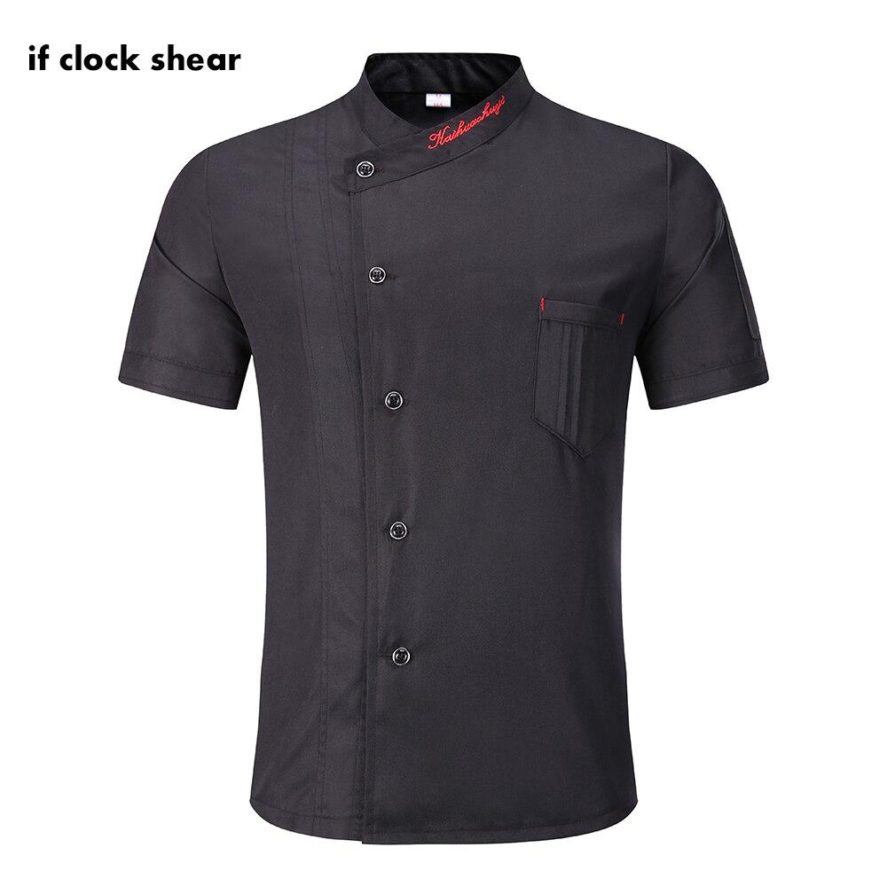 2019 Chef Jacket Hotel Chef's Uniform Short Sleeve Mesh Breathable Workwear Catering Restaurant Kitchen Bakery Shirt Wholesale