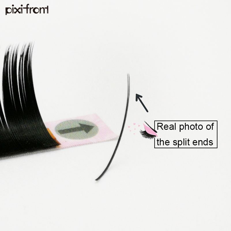2 lots charming flat eyelashes extensions, individual false mink lashes flat ellipse lash