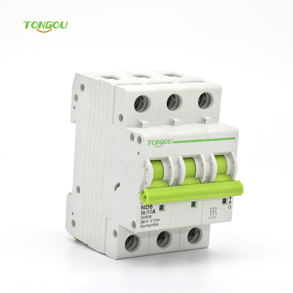 3 Pole 50 Amp Circuit Breaker Resetable Curve C 6KA with 5 Years ...