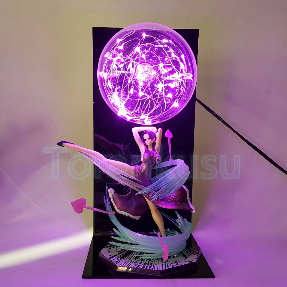 One Piece Action Figure Boa Hancock Figuarts Zero Led Light Display Toy Anime180mm One Piece Boa Hancock PVC Figure Toy DIY150 one piece portrait of pirates sex figurine bikini boa hancock ver bb sp pvc figure portrait of pirates limited edition boa