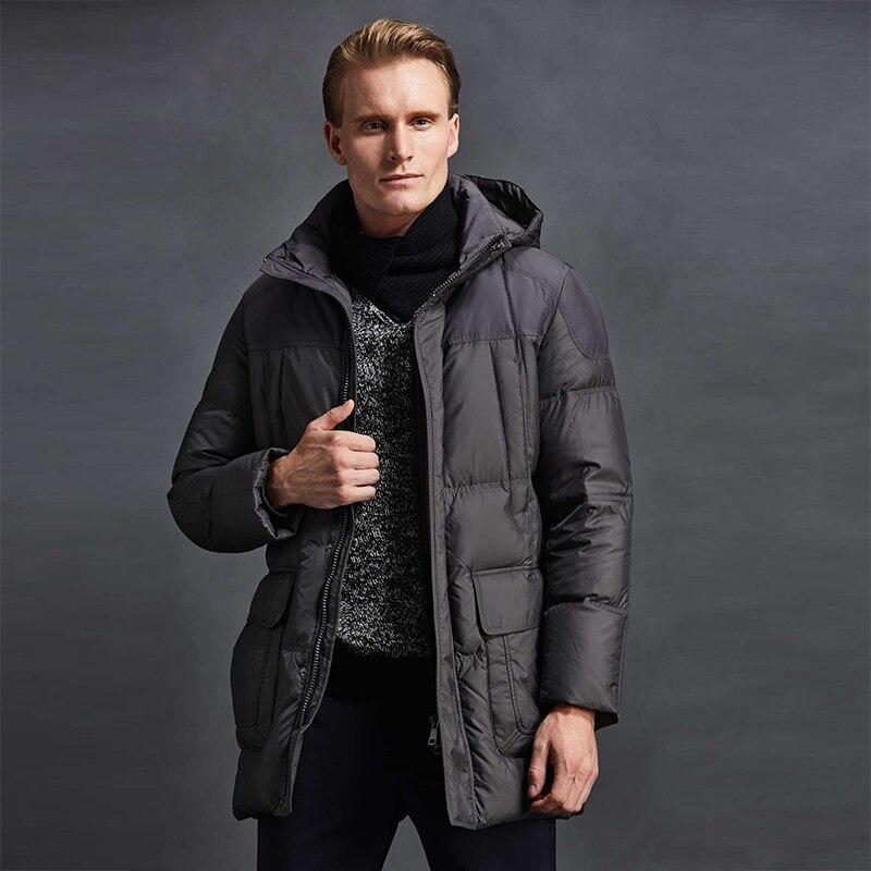 2019 High Quality Men   Down   Jacket 90% White Duck   Down   Winter   Down     Coat   Men Duck   Down   Jacket Parka Hooded Men Winter Jackets Mens