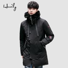 HMILY Winter Jacket Men Warm Thick Cotton Windproof Pockets Windbreaker Mens Hooded Zipper Male Jackets Brand Coats