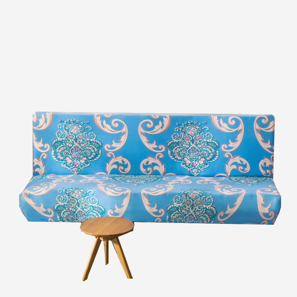 Flowers Printing Universal Elastic Armless Couch Sofa Covers Stretch Bed Europe Slipcovers For Living Room