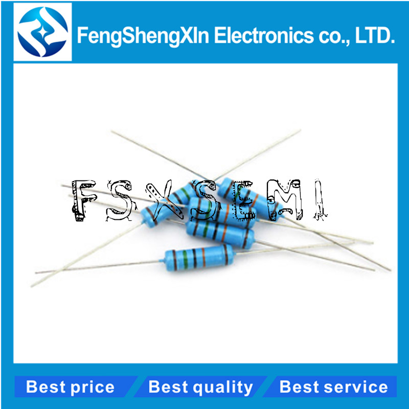 50pcs/lot 1W Metal Film Resistor 1% 1R ~ 1M 2.2R 4.7R 10R 22R 47R 100R 220R 470R 1K 10K 100K 2.2 4.7 10 22 47 100 220 470 Ohm
