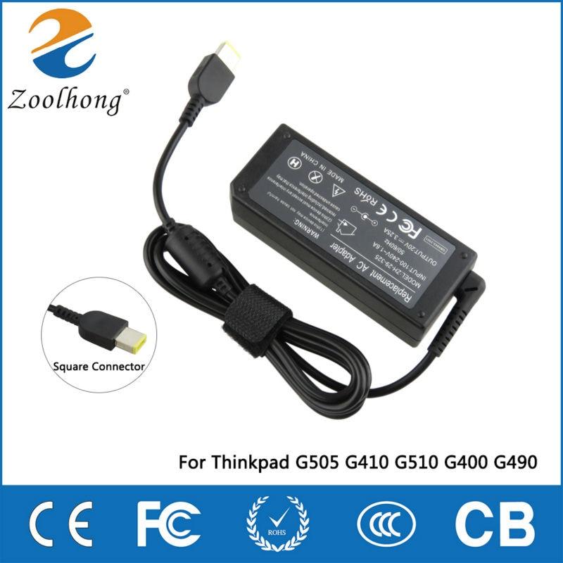 Zoolhong 20V 3.25A AC adaptér Napájecí nabíječka pro ThinkPad G505 G410 G510 G400 G490