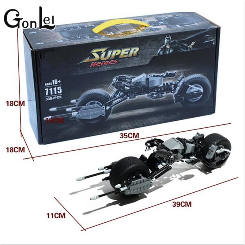 GonLeI Decool 7115 Super Heroes Batman Bat-Pod Block Brick Toy Boy Game DC Motorcycle Gift Compatible with Lepin kids toys