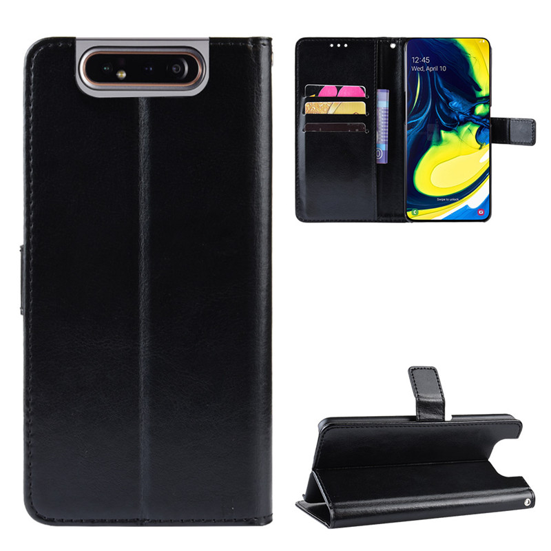 For Samsung Galaxy A80 Case Leather Flip Wallet Phone Case For Samsung A 80 A805F A805 SM-A805F Case Stand Function Card Holder image