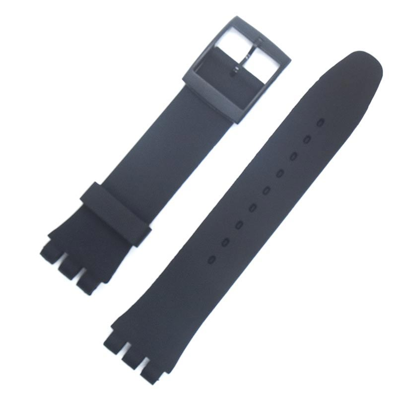 Watch Accessories For Swatch Strap Buckle SWATCH Silicone Watch Band 17mm 19mm 20mm Rubber Strap