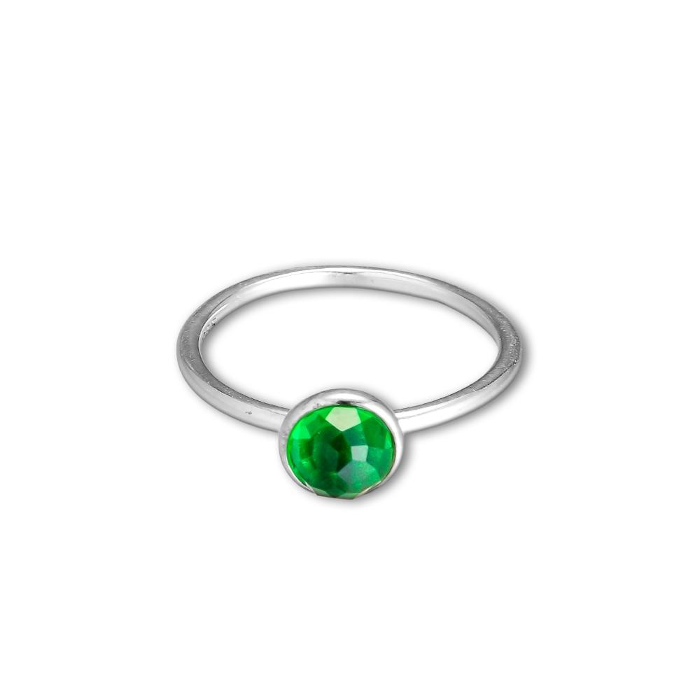 CKK 925 Ayar Gümüş Olabilir Damlacık, kraliyet-Yeşil Kristal - Takı - Fotoğraf 2