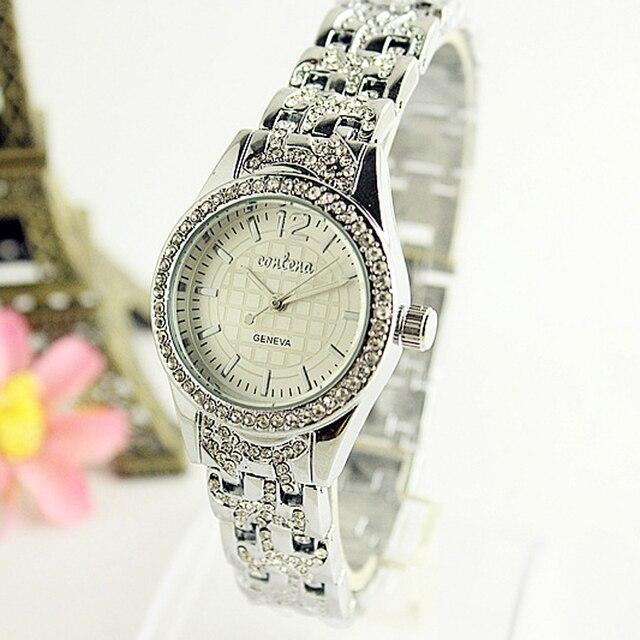 CONTENA6397 mujer relojes de señoras de acero inoxidable de plata esterlina  pulsera de reloj para mujeres ad749bd52745