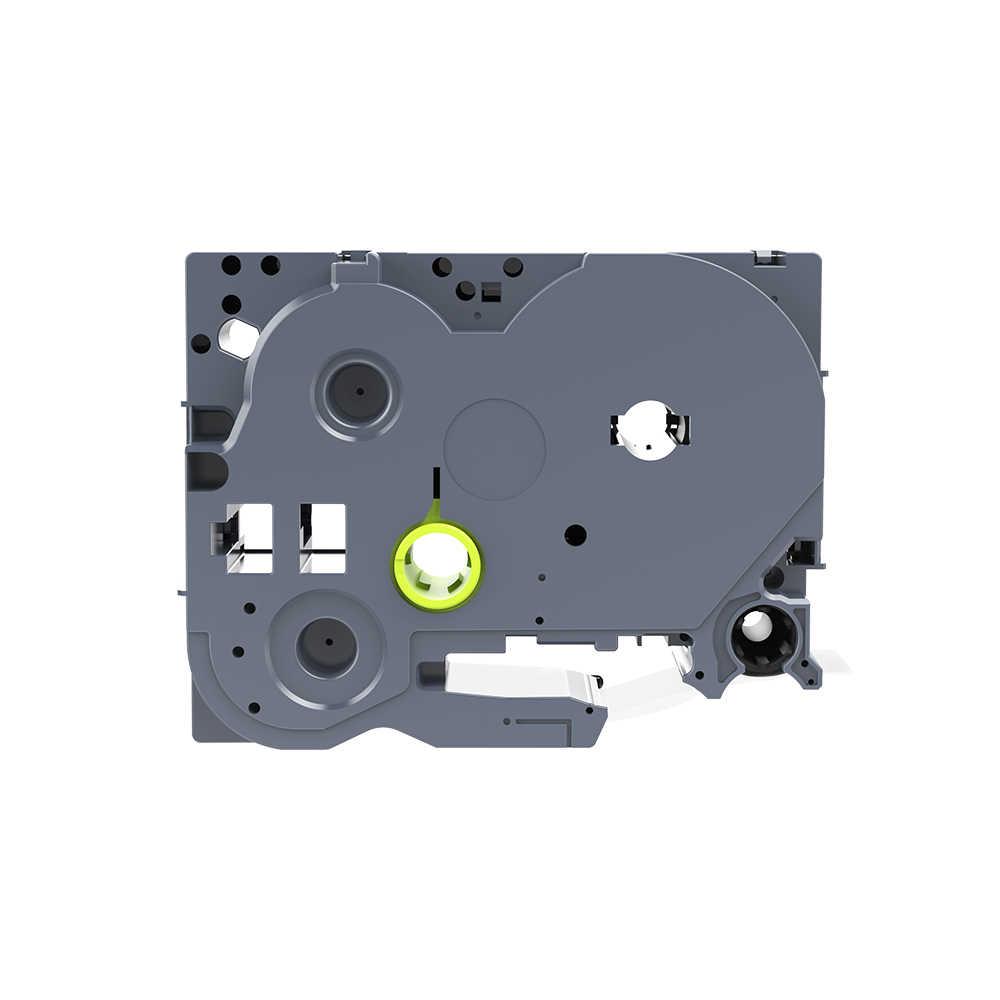Gorąca sprzedaż 1 sztuk 18mm * 8 m biały na czarny kompatybilny TZ wstążka z atramentem TZ2-345/TZe-345/ TZ 345 brat taśma z etykietami dla P-dotykowy LabelMaker