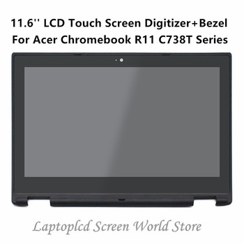 FTDLCD 11.6'' LCD Touch Screen Digitizer Laptop Assembly+Bezel B116XAN04.1 For Acer Chromebook R11 C738T Series C738T-C5R6