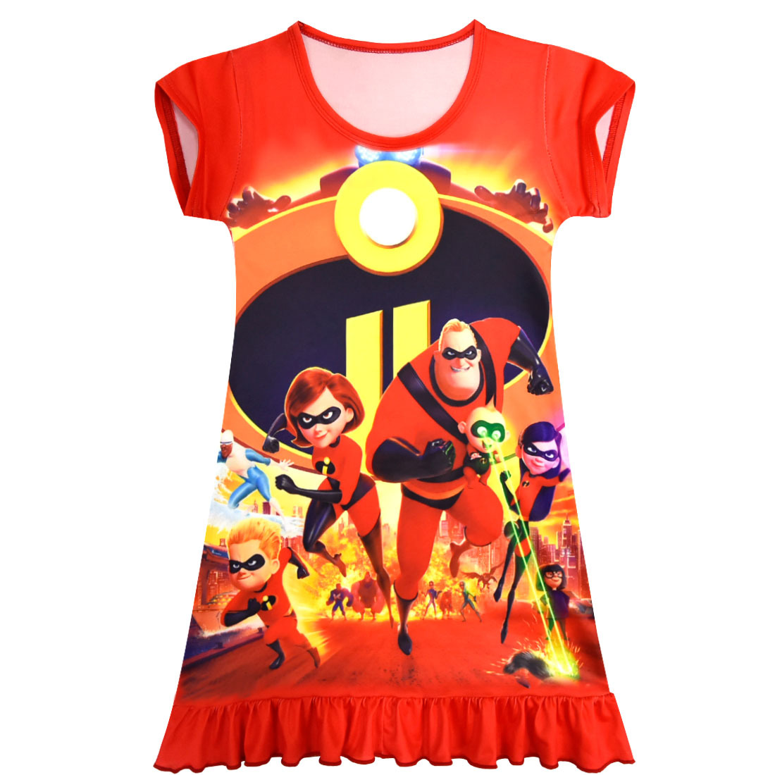 Girls' Clothing Dresses New Summer Kids Superman Baby Girl The Incredibles 2 Dress Vestido Dress Moana Costume For Girls Clothes Children Party Dresses