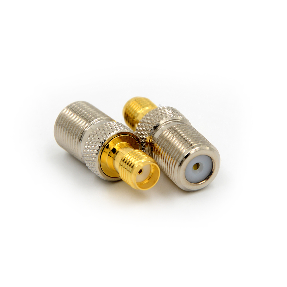 все цены на 1pcs Female F Type Jack To SMA Female Plug Straight RF Coax Adapter F To SMA Convertor F Female to SMA Female Connector онлайн