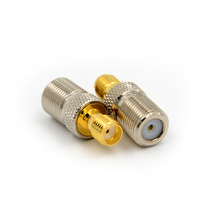 цена на 1pcs Female F Type Jack To SMA Female Plug Straight RF Coax Adapter F To SMA Convertor F Female to SMA Female Connector