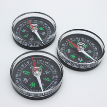 For Camping Hiking North Navigation Survival Button Design 10Pcs Portable Mini Precise Compass Practical Guider  Derection hiking camping north pointer compass