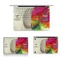 Hot Teclado Completo Laptop Vinyl Decal Top Bottom Lado Esquerdo e lado direito do cérebro etiqueta skins para macbook air retina pro logotipo corte fora