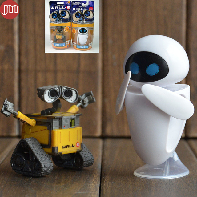 New 2PCS Wall E EVE Toy Wall E Robot Eee Vah Mini Action Figures ...