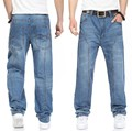 Плюс размер 44 42 5XL 4XL мужская рок Скейтборд HIP HOP джинсы 2014 новый мешковатые джинсы ВЫСОКОЕ КАЧЕСТВО дизайнер марки человек брюки