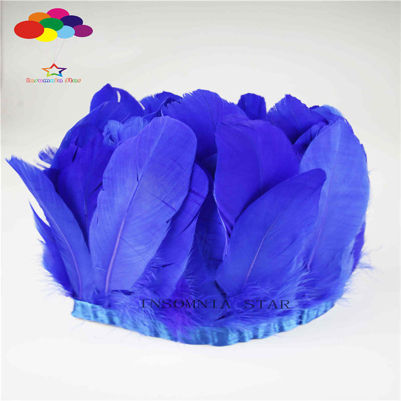Z&Q&Y Beautiful 15-20CM Goose Hair Po Blue Produce 2 Meter Cloth DIY Clothing Decoration Fittings Stage Collocation