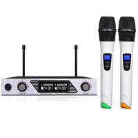 Professional Dual Wireless Microphone System Stage Performances Wireless Microphone Handheld Wireless Dynamic Microphone