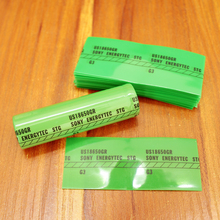 100pcs/lot Battery Heat Shrinkable Tube 18650 Lithium Package Special Plastic Pvc Insulation Film Shrink