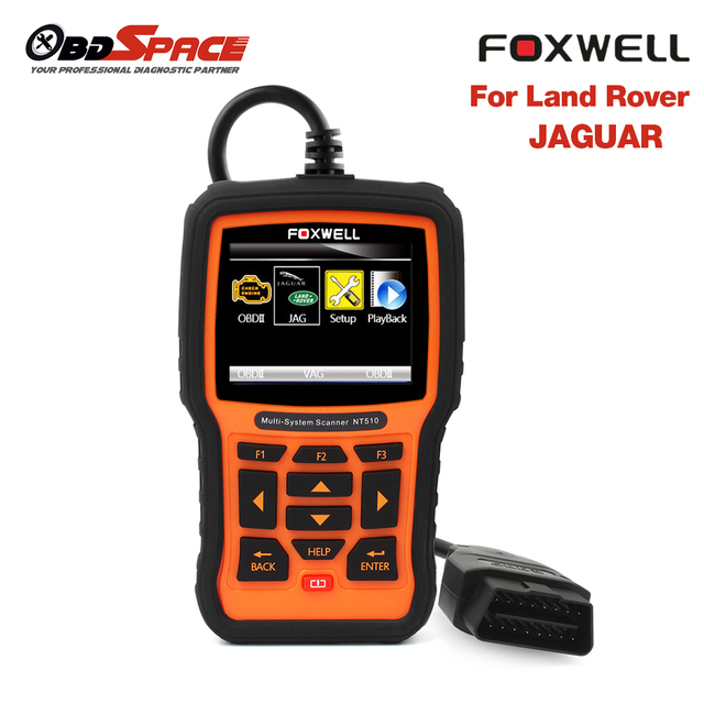 Original Foxwell NT510 For Land Rover/ Jaguar Full System Diagnostic Scanner ABS Airbag Transmission Diagnostic Tool Free Update