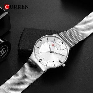 Image 4 - סגנון פשוט הגעה לניו אופנה & מזדמן CURREN גברים עסקים של גברים מלא פלדת קוורץ שעוני יד Relogio Masculino Relojes
