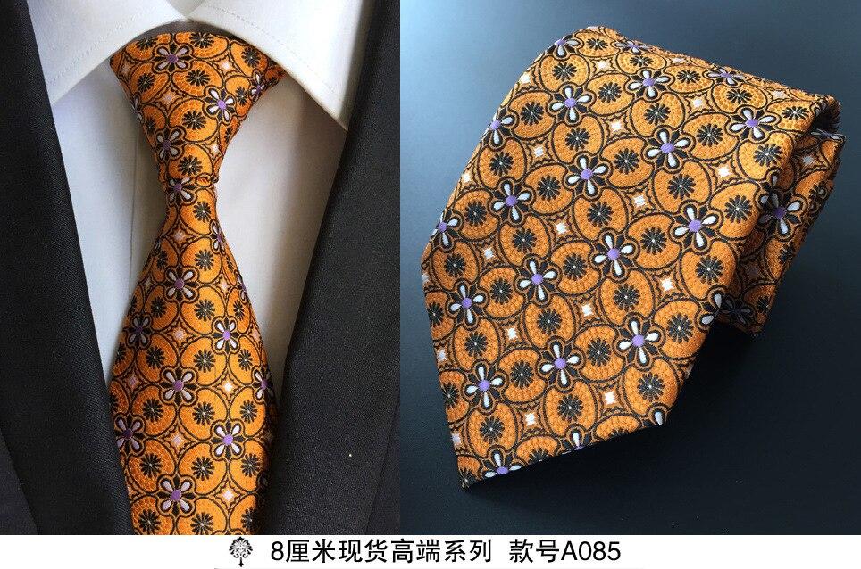 8 cm dasi leher untuk pria mewah 100% sutra mens dasi 8 cm corbata - Aksesori pakaian - Foto 6