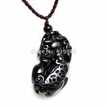 AAAA+ natural Obsidian pi xiu pendant black crystal fashion jewelry wholesale