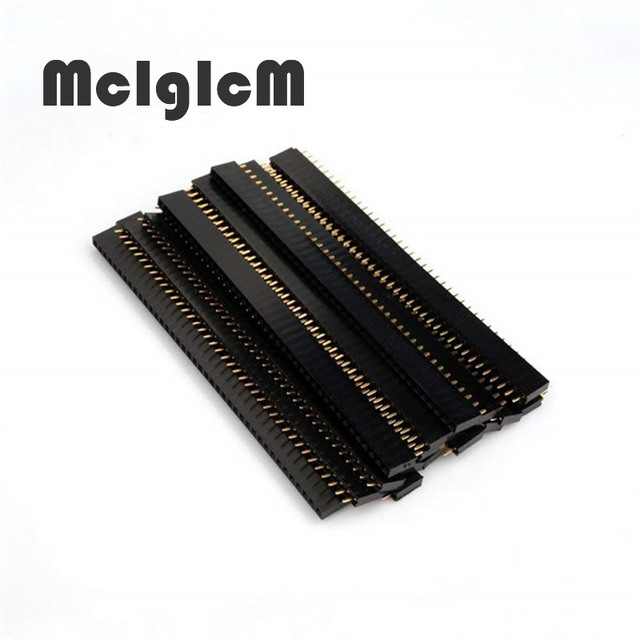 10pcs 2.54mm Connector Male Female Set 40 Pin 1×40 Single Row 2.54 Breakable PCB Connector Strip Pin Header