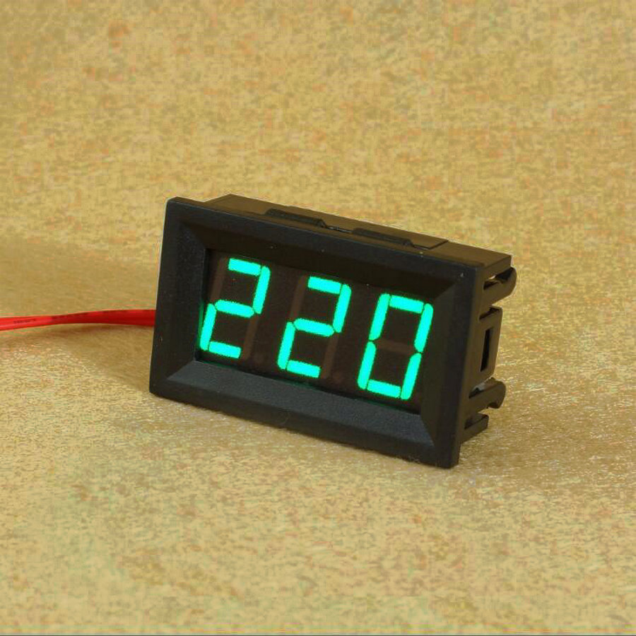 <font><b>10pcs</b></font>/lot Red Blue Green 0.56 inch AC70-500V Digital <font><b>Voltmeter</b></font> Voltage Panel Meter LED Digital <font><b>Voltmeter</b></font> Voltage Display 2 Wires image